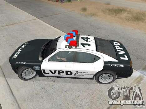 GTA 4 TBoGT de Buffalo para GTA San Andreas vista posterior izquierda