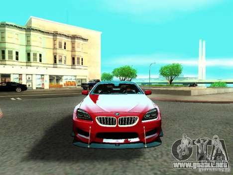 BMW M6 2013 para la vista superior GTA San Andreas
