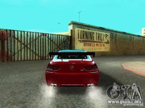 BMW M6 2013 para vista lateral GTA San Andreas