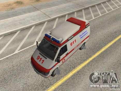 Ford Transit Ambulance para la visión correcta GTA San Andreas