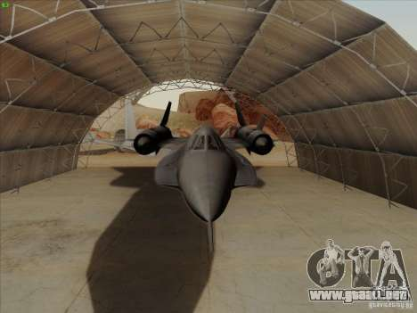 YF-12A para visión interna GTA San Andreas
