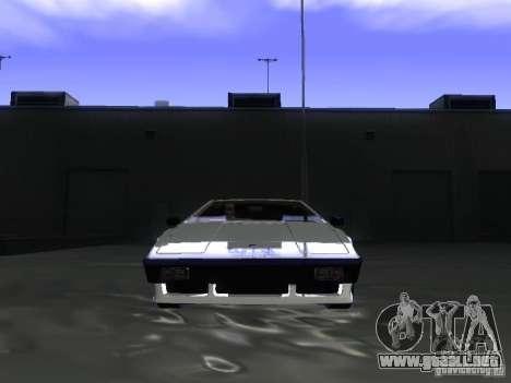Lotus Esprit Turbo para GTA San Andreas vista hacia atrás