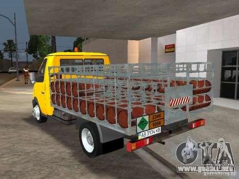 GAZ 3302 Balonovoz para GTA San Andreas vista posterior izquierda