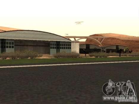 El nuevo aeropuerto para GTA San Andreas sucesivamente de pantalla