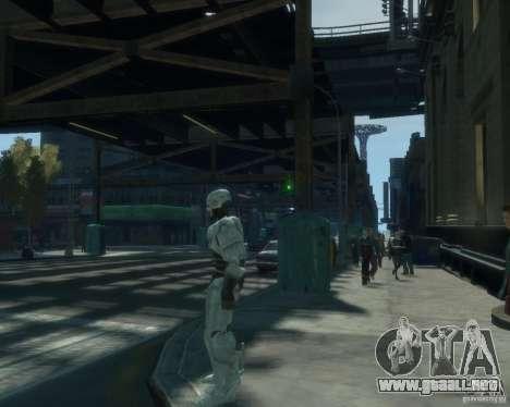 Piel Robokopa para GTA 4 adelante de pantalla