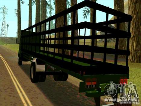 Ford Cargo para GTA San Andreas vista posterior izquierda