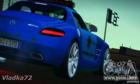 Mercedes-Benz SLS AMG Blue SCPD para GTA San Andreas left