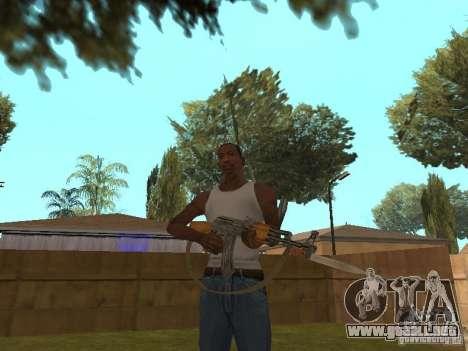 AK 47 con un cuchillo bayoneta HD para GTA San Andreas tercera pantalla