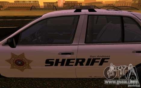 Ford Crown Victoria Police para visión interna GTA San Andreas