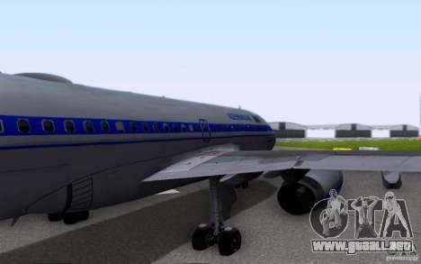 Airbus A-319 Azerbaijan Airlines para vista lateral GTA San Andreas