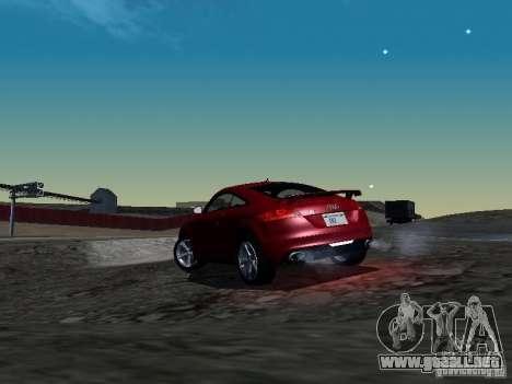 Audi TT-RS Coupe 2011 v.2.0 para GTA San Andreas vista posterior izquierda