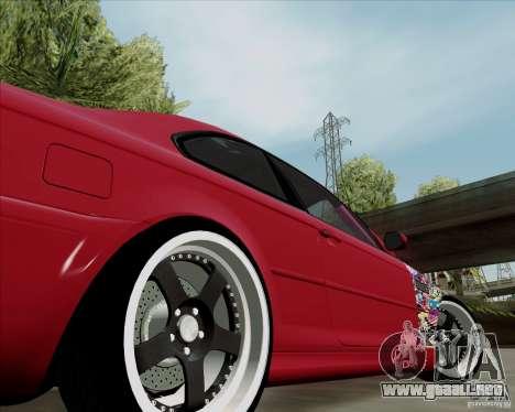 BMW E46 para GTA San Andreas vista hacia atrás