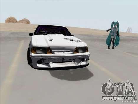 Ford Mustang Drift para GTA San Andreas vista hacia atrás