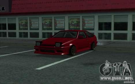 Toyota Corolla AE86 para la visión correcta GTA San Andreas