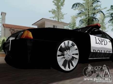 Elegy Police LS para GTA San Andreas vista hacia atrás