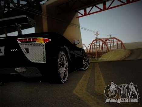 Lexus LFA Nürburgring Edition para GTA San Andreas vista hacia atrás