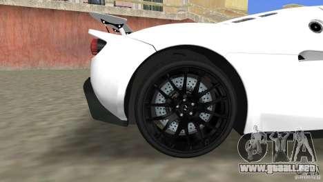 Hennessey Venom GT Spyder para GTA Vice City visión correcta
