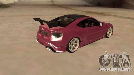 Toyota GT86 Drift 2013 para la visión correcta GTA San Andreas