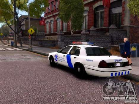 Ford Crown Victoria Homeland Security para GTA 4 visión correcta
