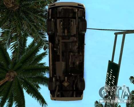Khord ThunderWing para GTA San Andreas vista posterior izquierda