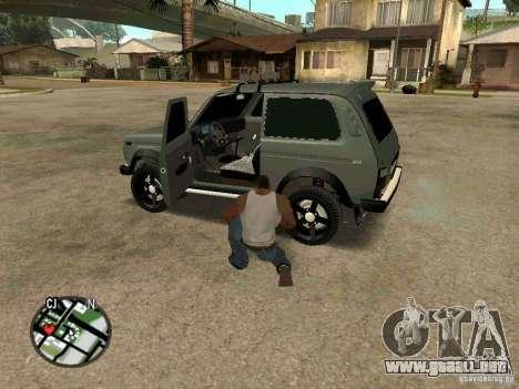LADA Niva 21213 para la visión correcta GTA San Andreas