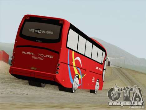 Neoplan Tourliner. Rural Tours 1502 para GTA San Andreas vista posterior izquierda