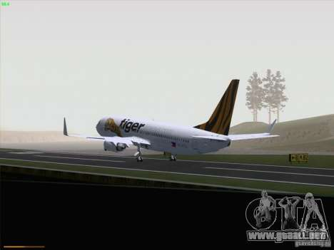 Boeing 737-800 Tiger Airways para visión interna GTA San Andreas