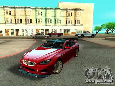 BMW M6 2013 para vista inferior GTA San Andreas