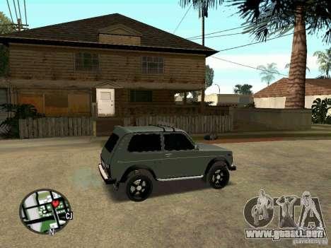 LADA Niva 21213 para GTA San Andreas vista posterior izquierda
