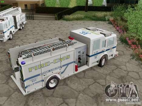 Pierce Pumpers. B.C.F.D. FIRE-EMS para GTA San Andreas interior