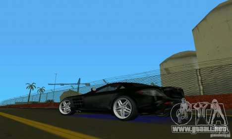 Mercedes-Benz SLR McLaren 722 Black Revel para GTA Vice City vista lateral izquierdo