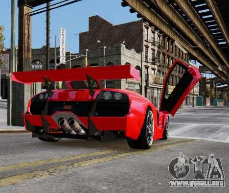 Lamborghini Murcielago RSV FIA GT1 para GTA 4 left