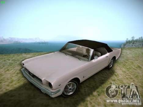 Ford Mustang Convertible 1964 para GTA San Andreas vista hacia atrás