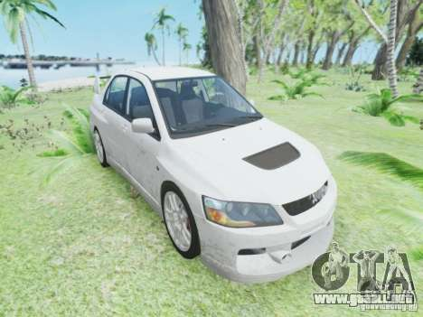 Mitsubisi Lancer Evolution IX GSR 2005 para GTA 4 left