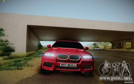 BMW X6 v1.1 para visión interna GTA San Andreas
