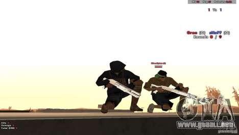 New Chrome Guns v1.0 para GTA San Andreas sucesivamente de pantalla