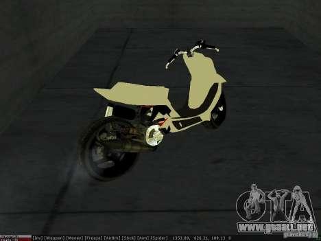 Yamaha Aerox para la vista superior GTA San Andreas