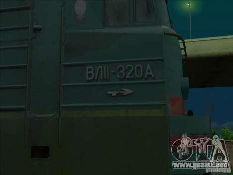 Vl11-320 para GTA San Andreas vista hacia atrás