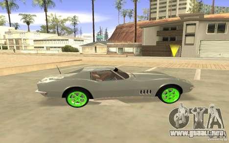 Chevrolet Corvette Stingray Monster Energy para la visión correcta GTA San Andreas