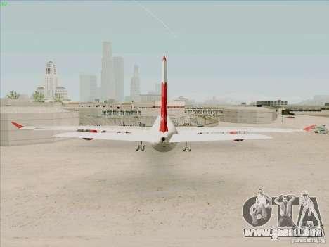 Airbus A-340-600 Plummet para GTA San Andreas vista posterior izquierda