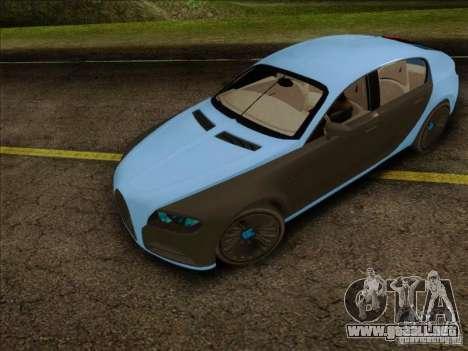 Bugatti Galibier 16c para GTA San Andreas vista posterior izquierda