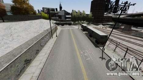 La pista en el estilo de Gymkhana para GTA 4 adelante de pantalla