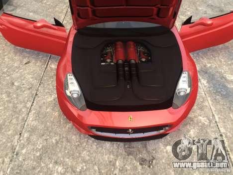 Ferrari California 2009 para GTA 4 visión correcta