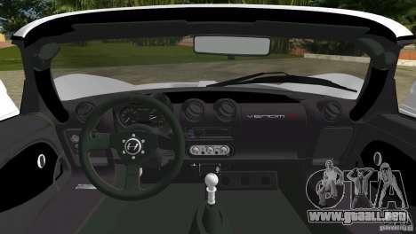 Hennessey Venom GT Spyder para GTA Vice City vista posterior