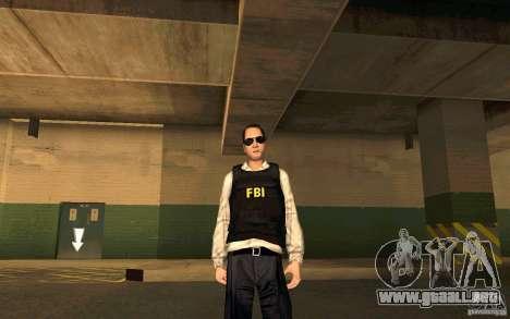 FBI HD para GTA San Andreas sucesivamente de pantalla