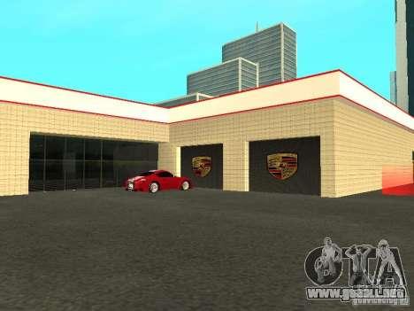 Salón del automóvil de Porsche para GTA San Andreas quinta pantalla
