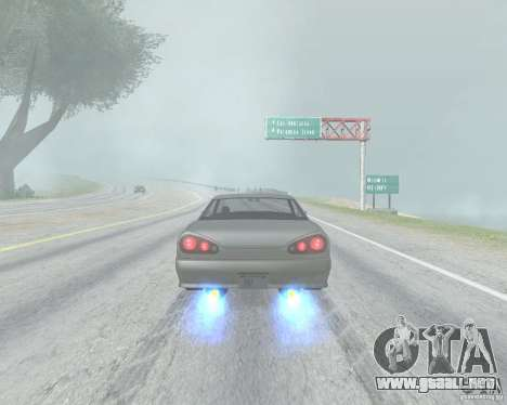 El borrón cuando usando Nitro para GTA San Andreas tercera pantalla