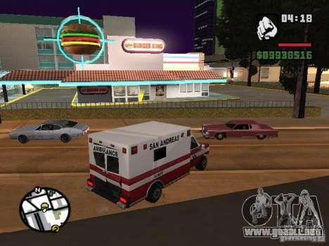 Nuevos restaurantes de texturas para GTA San Andreas quinta pantalla