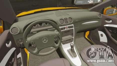 Mercedes-Benz CLK 55 AMG para GTA 4 vista hacia atrás