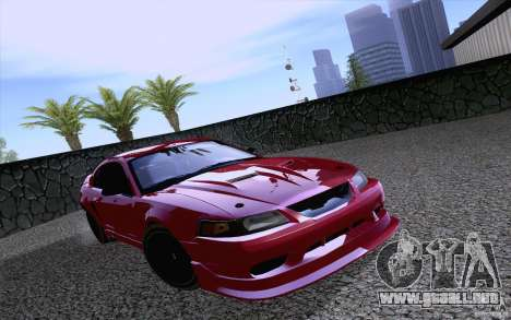 Ford Mustang SVT Cobra 2003 Black wheels para GTA San Andreas left